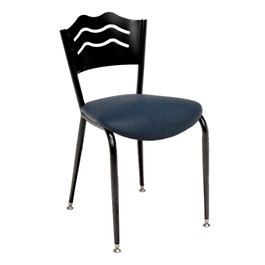 3818LB Series Café Chair - Vinyl Upholstered Seat
