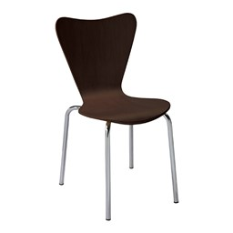 Contemporary Wood Stack Chair - Espresso