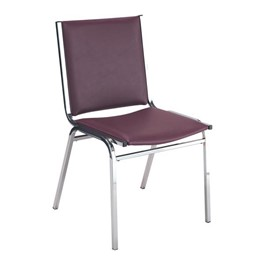 400 Stack Chair w/out Arm Rests - Vinyl Upholstered - Port w/ chrome frame