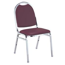 510 Stack Chair - Port vinyl w/ Chrome frame