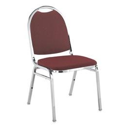 510 Stack Chair - Burgundy fabric w/ Chrome frame
