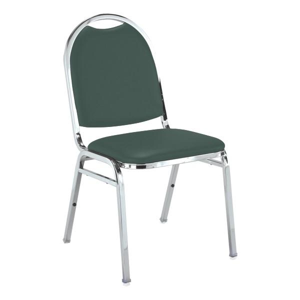 510 Stack Chair - Hunter vinyl w/ Chrome frame