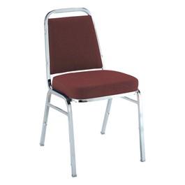 820 Stack Chair - Cabernet w/chrome frame