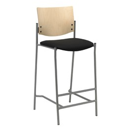 1300 Series Wood Back Cafe Stool