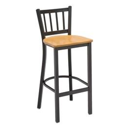 3309 Series Café Stool - Wood Seat