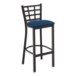 3312 Series Café Stool - Fabric Upholstered Seat
