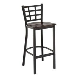 3312 Series Café Stool - Wood Seat