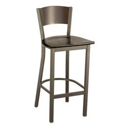 3315C Series Café Stool - Wood Seat