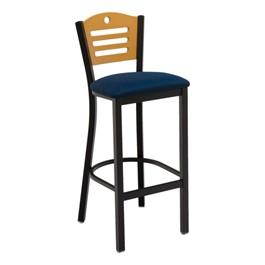 3315D Series Café Stool - Fabric Upholstered Seat
