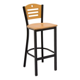 3315D Series Café Stool - Wood Seat
