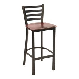 3316 Series Café Stool - Wood Seat