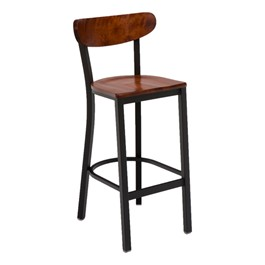 3319K Series Café Stool - Wood Seat