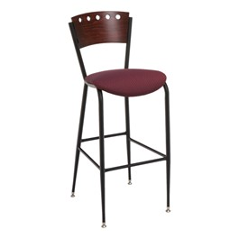 3818A Series Café Stool - Fabric Upholstered Seat