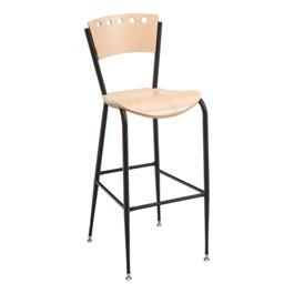 3818A Series Café Stool - Wood Seat