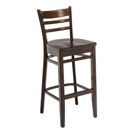 4500 Series Café Stool - Wood Seat - Walnut
