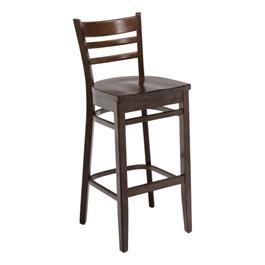 4500 Series Café Stool - Wood Seat - Walnut