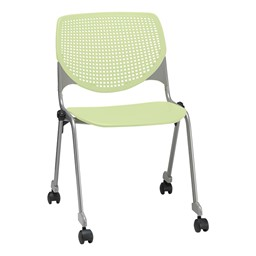 2300 Series Plastic Stack Chair w/ Casters - Lime Green