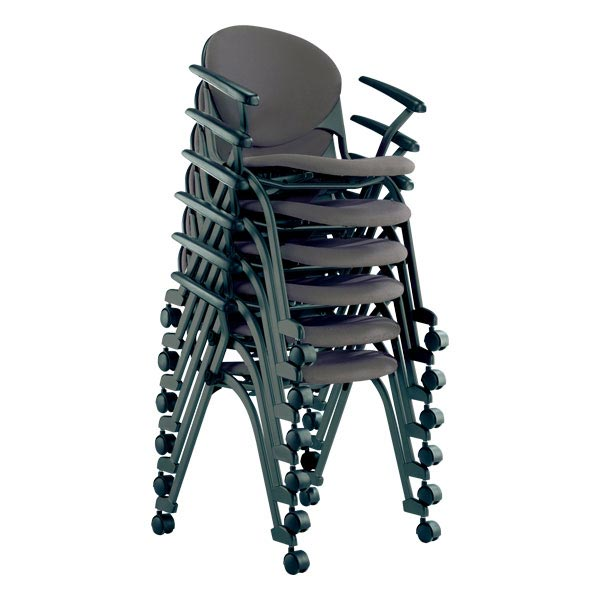 ... Nesting Task Chair W/ Padded Seat   Stacked