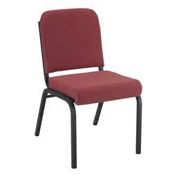 1000 Series Fabric Stack Chair - Cabernet