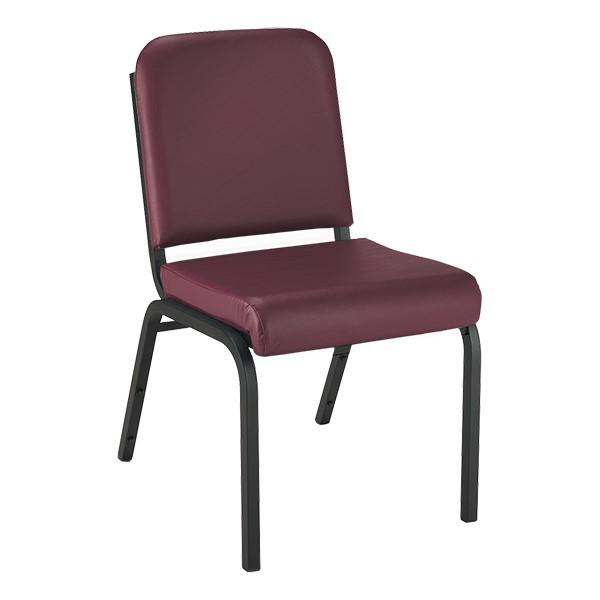 1000 Series Vinyl Stack Chair - Burgundy