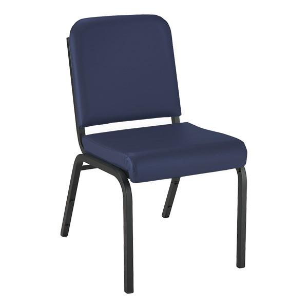 1000 Series Vinyl Stack Chair - Navy