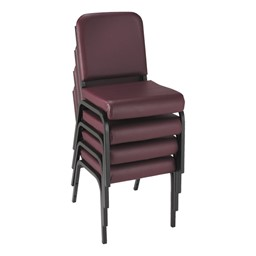 1000 Series Vinyl Stack Chair - Shown stacked
