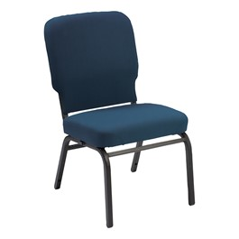 Oversized Antibacterial Vinyl Guest Chair w/o Arms - Imperial blue