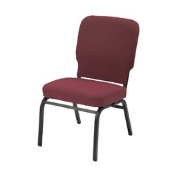 HTB1040 Series Oversized Padded Stack Chair w/ out Arms - Cabernet