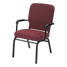 HTB1040 Series Oversized Padded Stack Chair w/ Arms - Cabernet