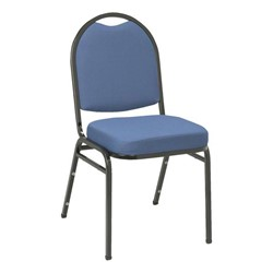 IM520 Stack Chair - Blue fabric w/ Black frame