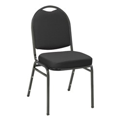 IM520 Stack Chair - Black fabric w/ Black frame
