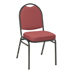 IM520 Stack Chair - Burgundy fabric w/ Black frame