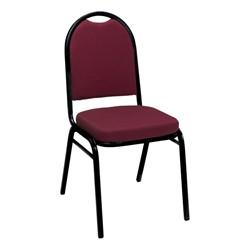 IM520 Stack Chair - Burgundy Pindot fabric w/ Black frame