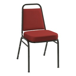 IM820 Stack Chair - Fabric Upholstered - Burgundy