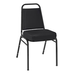 IM820 Stack Chair - Fabric Upholstered - Black