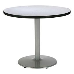 Round Pedestal Table w/ Silver Base - Grey Nebula