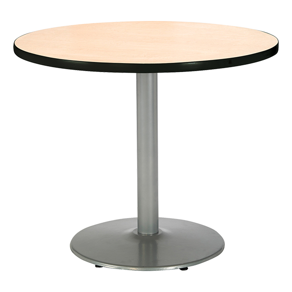 Kfi Seating Round Pedestal Table W Silver Base At School