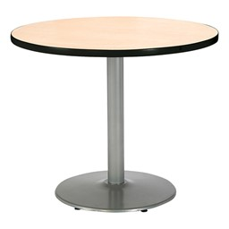 Round Pedestal Table w/ Silver Base - Natural