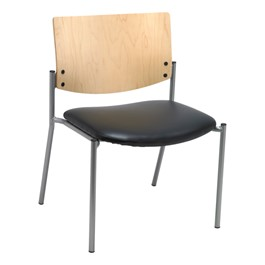 1300 Series Wood Back Big and Tall Stack Chair