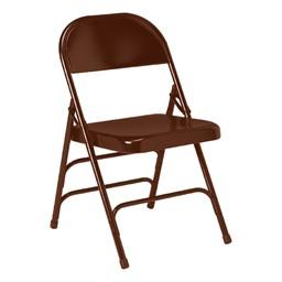 300 Series Folding Chair w/ Triple Crossbraces - Brown
