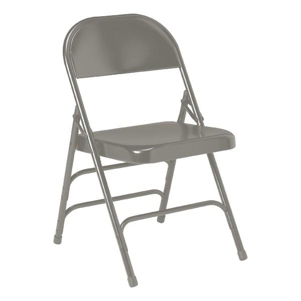 300 Series Folding Chair w/ Triple Crossbraces - Warm Gray