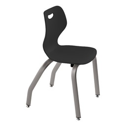 """Intellect Wave Music Chair (16"""" Seat Height) - Shown in black"""