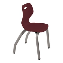 """Intellect Wave Music Chair (16"""" Seat Height) - Shown in bordeaux"""