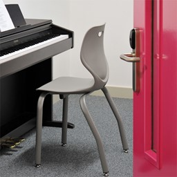 """Intellect Wave Music Chair (16"""" Seat Height) - Shown in cafe au lait"""