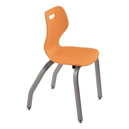 """Intellect Wave Music Chair (16"""" Seat Height) - Shown in tangelo"""
