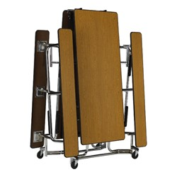 Uniframe Mobile Cafeteria Bench Table w/ Chrome Frame & Perfect Edge<br>Shown folded