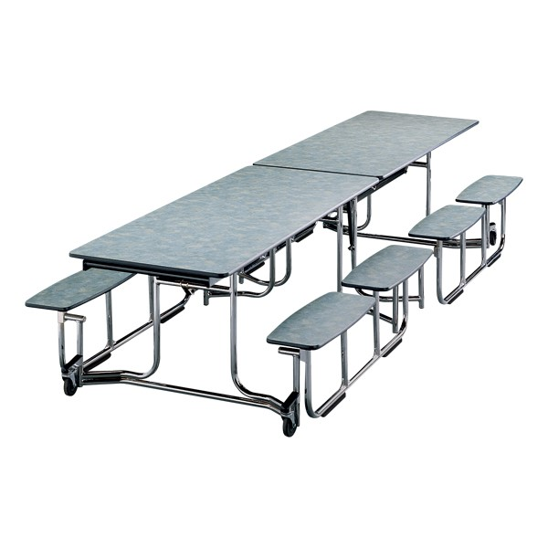 Uniframe Mobile Cafeteria Split-Bench Table