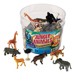 Jungle Animals - 60 Pieces