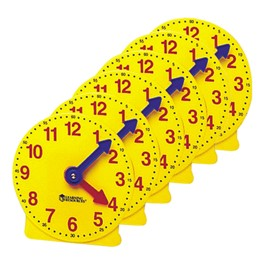 "Big Time Learning Clock - 4"" Set of Six"