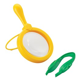 Primary Science Magnifier & Tweezers